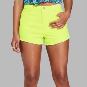 Wild Fable Quarrion Yellow High-Rise Shorts Size 8